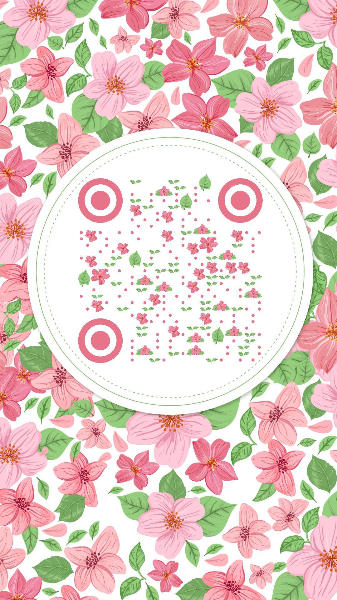 flower 艺术二维码