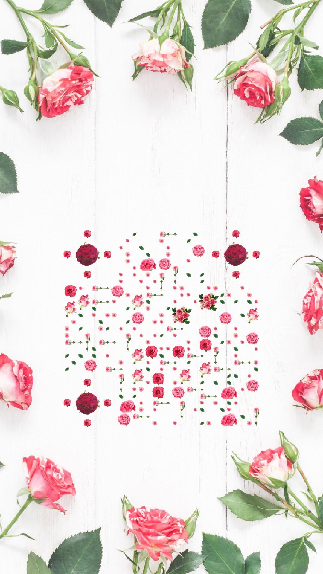 粉紅玫瑰 藝術二維碼