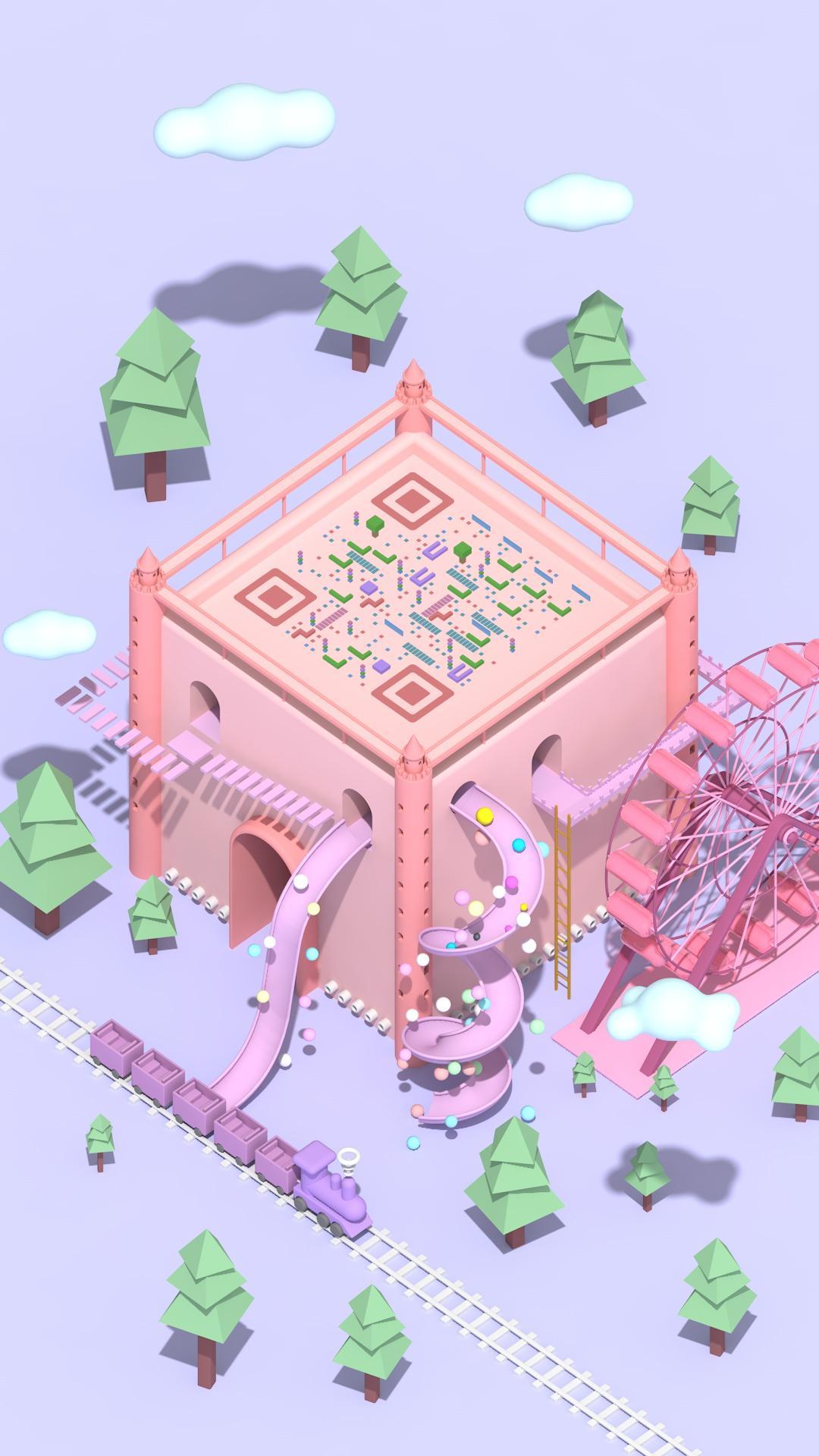 游樂城堡 藝術二維碼