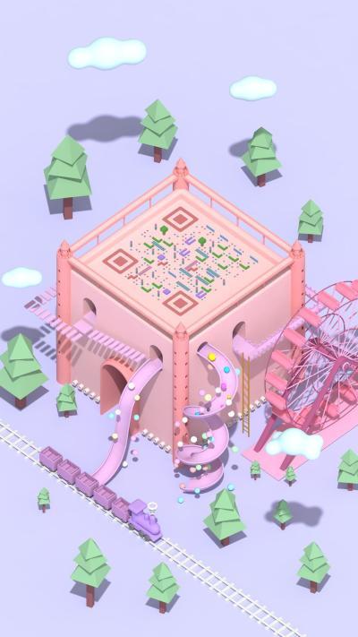 游樂城堡藝術二維碼