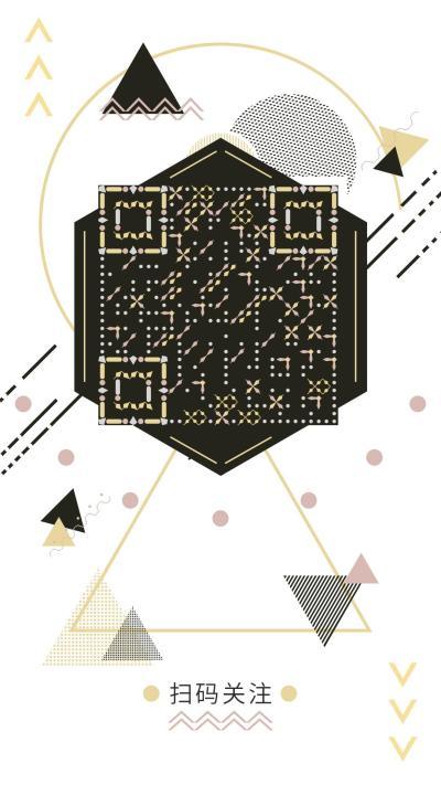 簡約輕奢幾何藝術二維碼