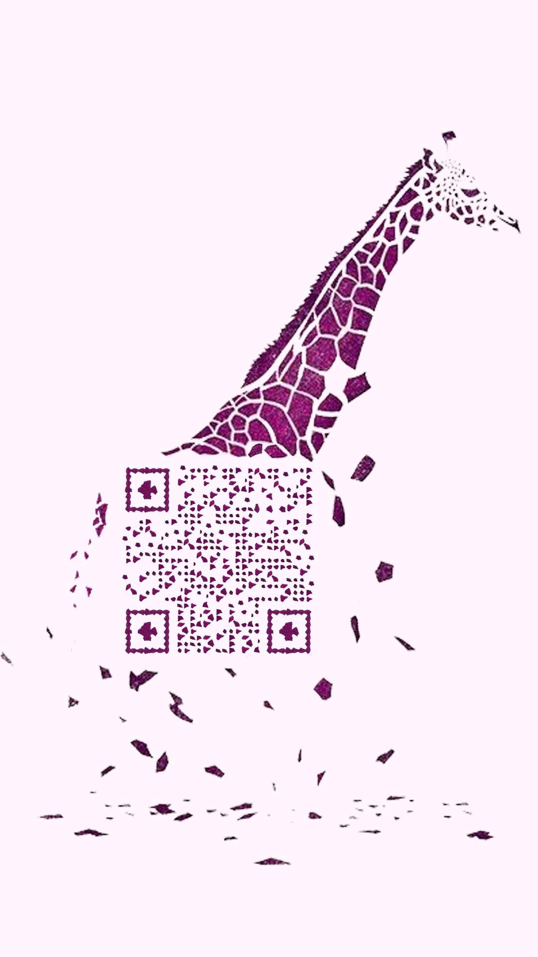 長頸鹿 藝術二維碼