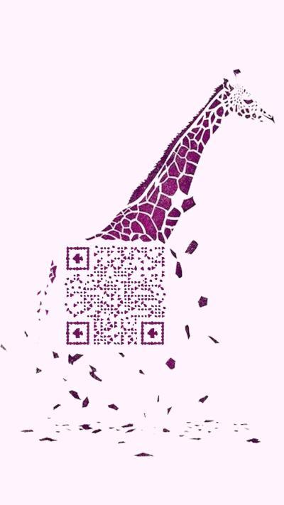 长颈鹿艺术二维码